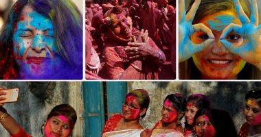 انطلاق مهرجان الألوان فى الهند احتفالا بقدوم فصل الربيع