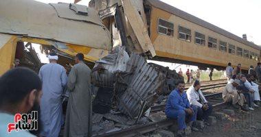 وزيرة التضامن تتابع حادث قطارى البحيرة وتوجه بتوفير المساعدات لأسر الضحايا (صور)