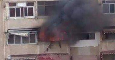 السيطرة على حريق نشب داخل شقة سكنية فى اﻷزبكية دون إصابات