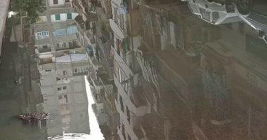 قارئ يشكو غرق شارع عثمان حفنى بفيصل بمياه الصرف الصحى