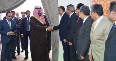 السيسي وولى عهد السعودية يتفقدان أنفاق قناة السويس وعددا من المشروعات بالإسماعيلية