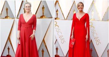 ميريل ستريب vs أليسون جانى بفستان أحمر نفس التصميم