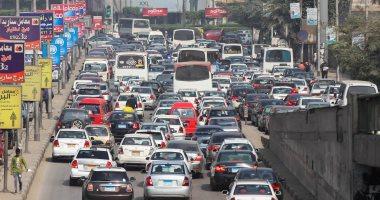 حالة المرور اليوم.. كثافة متحركة بشارع السودان وأعلى 6 أكتوبر و15 مايو