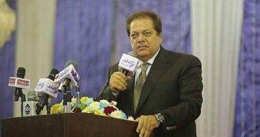 محمد أبو العينين فى  مؤتمر دعم السيسى بجزيرة الدهب بالجيزة