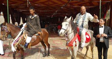 قبائل أسيوط تدعم موسى مصطفى موسى بالخيول والمزمار الشعبى (صور)