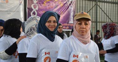 صور.. ماراثون ومسيرة نسائية لأول مرة فى الموصل دعما لحقوق المرأة