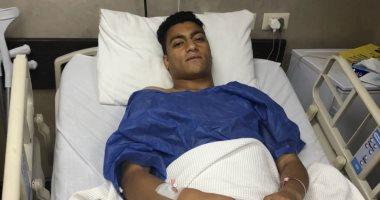 """ننشر أول صور لـ""""مصطفى محمد"""" البلدوزر الجديد بعد عملية الركبة"""