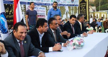 صور.. بدء مؤتمر مستقبل وطن لتأييد السيسى بانتخابات الرئاسة بالحوامدية