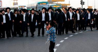 صور.. عشرات اليهود المتشددين يتظاهرون ضد الخدمة العسكرية الإلزامية بإسرائيل