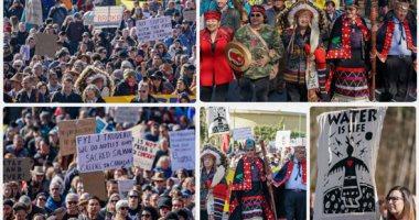 سكان كولومبيا  الأصليون يتظاهرون لمواجهة تلوث البيئة