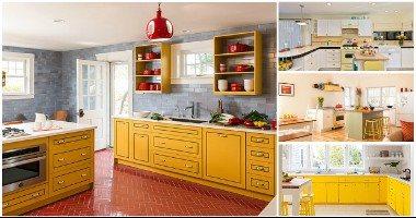 الأصفر يكتسح.. اختارى من 7 أشكال مختلفة للمطابخ بموضة اللون الأصفر