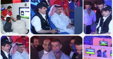 نجوم الفن فى مباراة محمد هنيدى وتركى آل الشيخ ببطولة الألعاب الإلكترونية