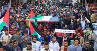 الآلاف فى غزة ينتفضون رفضا للحصار والانقسام فى القطاع