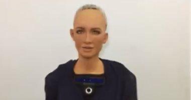 فيديو معلوماتى.. تعرف على الروبوت صوفيا قبل مشاركتها بمنتدى شباب العالم