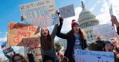 صور.. الآلاف يتظاهرون أمام البيت الأبيض للمطالبة بمنع تكرار حوادث إطلاق النار