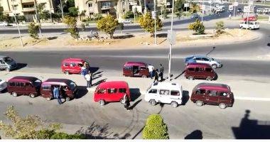 موقف ميكروباصات عشوائى يزعج سكان شارع التسعين بالتجمع الخامس