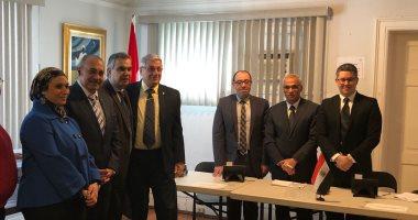 طاقم السفارة المصرية فى كندا