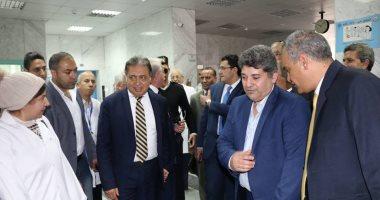 صور.. وزير الصحة يتفقد مستشفى طابا بعد تجديدها بتكلفة 22مليون جنيه -