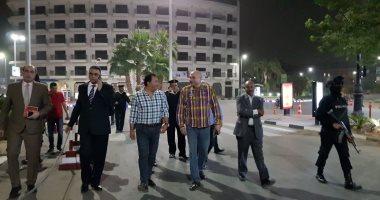 صور محمد بدر واللواء طارق علام يواصلان الجولات التفقدية للأقصر ليلا