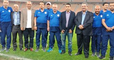 سفير مصر بالسعودية يحضر ودية المنتخب الاولمبى ويشيد بالفريق