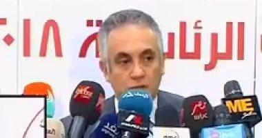 بدء المؤتمر الصحفى للهيئة الوطنية للانتخابات حول مجريات العملية الانتخابية