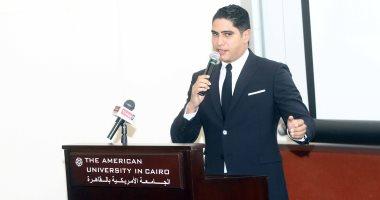 صور.. أبو هشيمة من الجامعة الأمريكية: أنا مدمن صناعة وأرفض أن أكون وزير وبدأت من الصفر