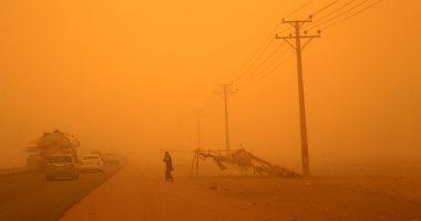 """فيديو.. عاصفة ترابية تقتلع الأشجار بـ""""روضة هباس"""" بالسعودية"""