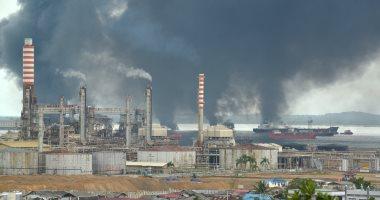 """وزارة البترول تصدر بيانا بشأن حريق خط أنابيب البوتاجاز """"شقير - السويس"""""""