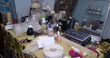 صحة الشرقية تضبط مصنع أدوية  غير مرخص بالزقازيق