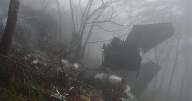 ننشر صور تحطم مقاتلة فى كوريا الجنوبية عقب اصطدامها بجبل جنوب شرق البلاد