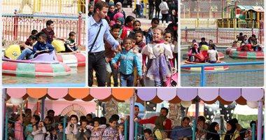 """10 آلاف طفل يتيم يحتفلون بمدينة الألعاب الترفيهية """"دريم بارك"""""""