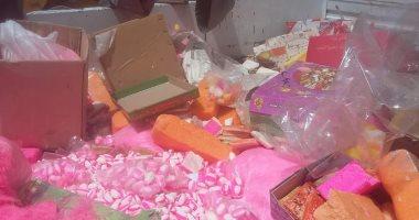 شرطة التموين تضبط 18 طن حلوى فاسدة قبل ذكرى مولد النبى