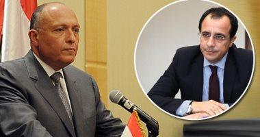 وصول وزراء خارجية قبرص واليونان للقاء سامح شكرى