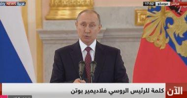 بوتين: النظام الدولى سيستقر والدبلوماسية والعقلانية ستنتصران فى نهاية الأمر