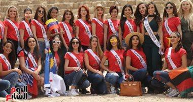60 ملكة جمال يروجن للسياحة من الأهرامات وأبو الهول