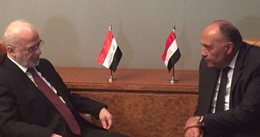 سامح شكرى لوزير الخارجية العراقى: مصر ملتزمة بدعم وحدة وسيادة العراق