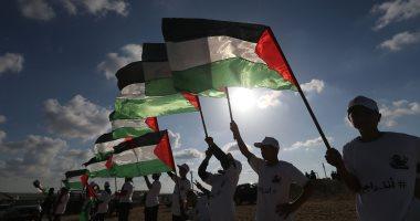 صور.. الفلسطينيون يشاركون بجمعة الأعلام فى قطاع غزة