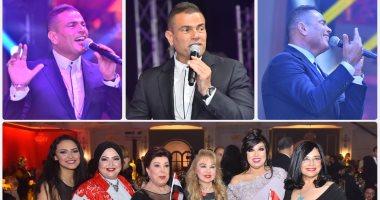 عمرو دياب يتألق فى حفل صندوق تحيا مصر بحضور وزراء ونجوم الفن والإعلام