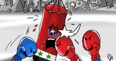 """حال الدنيا ..العدوان على سوريا فى كاريكاتير """" اليوم السابع"""""""