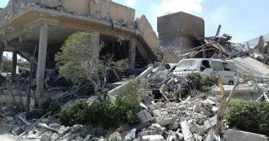 ننشر صور آثار الغارات على مركز البحوث فى برزة بسوريا