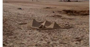 السفيرة البلجيكية تنشر صورة للأهرامات على شواطئ بلادها فى دعوة لزيارة مصر