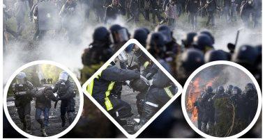 اشتباكات عنيفة بين الشرطة الفرنسية ومحتجين احتلوا مشروع إنشاء مطار غرب البلاد