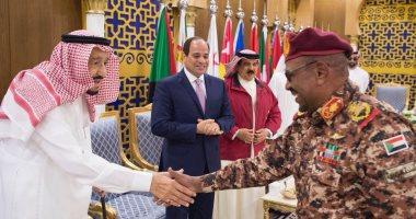 """السيسي وعدد من القادة العرب يشهدون المرحلة النهائية لتدريب """"درع الخليج 1"""" - صور"""
