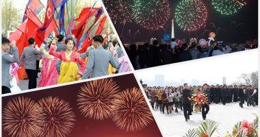احتفالات ضخمة فى كوريا الشمالية بمناسبة عيد ميلاد مؤسس الدولة