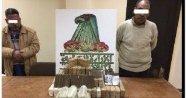 فيديو.. مكافحة المخدرات تحبط تهريب 517 طربة حشيش بالسويس