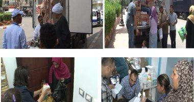 فيديو.. قوافل علاجية وغذائية من الداخلية للبسطاء بالصعيد