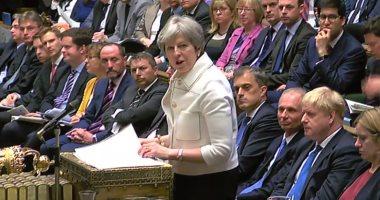 صور.. إفادة تيريزا ماى أمام البرلمان البريطانى عن غارات سوريا