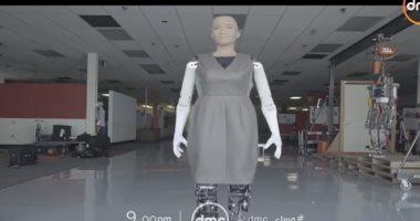 """فى حوار هو الأول من نوعه.. الروبوت """"صوفيا"""" ضيف أسامة كمال بـ""""مساء DMC"""" (فيديو)"""