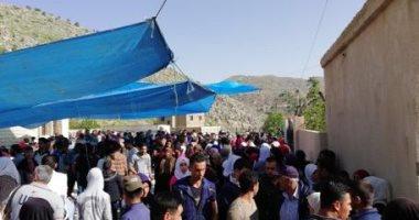 صور.. 500 نازح سورى يغادرون لبنان للعودة لقراهم بريف دمشق