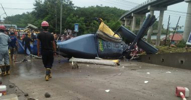 مصرع 5 أشخاص نتيجة تصادم مروحية وطائرة صغيرة بإسبانيا